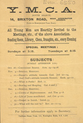 Advert for the YMCA
